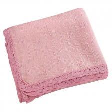 Κουβέρτα ζακάρ Art 1349 με δαντέλα μονή σε 5 χρώματα 170x250 Candy Beauty Home